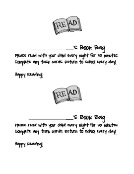 Book Bag for Guided Reading