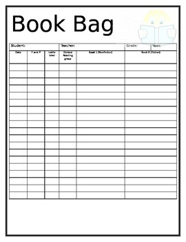 Book Bag template