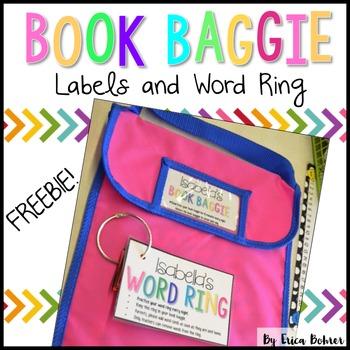 Book Baggie Labels & Word Ring
