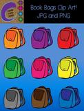 Book Bags  Clip Art Color Images Designs Back Packs