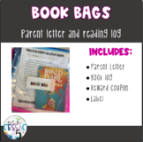 Book Bags: Parent Letter, Log, and Label