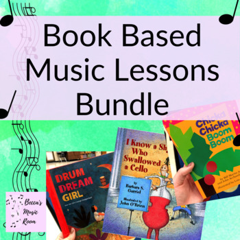 Book Based Music Lesson Bundle for Elementary Music