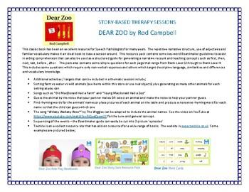 Book - Based Planning Portfolio - Dear Zoo