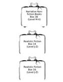Book Basket Genre Suitcase Labels