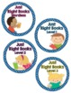 Book Basket Labels- Blue