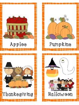 Book Basket Labels {Fall}