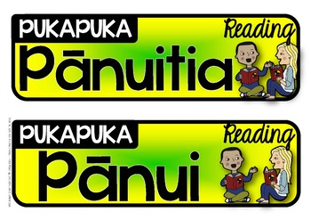 Book Basket Labels {Maori English Subject labels}