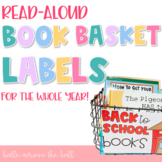 Book Basket Labels | Read-Aloud Labels | Read-Aloud Organization