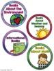 Book Basket Labels- Rainbow Watercolor classroom decor