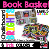 Book Basket Labels for Classroom Library {Chalkboard BRIGH