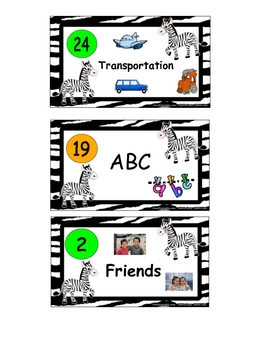 Book Basket Labels for Reading Center