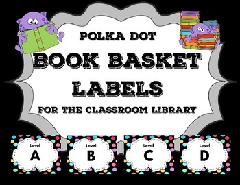 Book Basket Labels for the Classroom Library