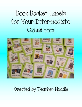 Book Basket Labels for the Intermediate Classroom
