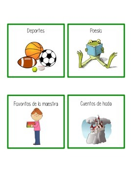 Book Basket Labels in SPANISH & ENGLISH
