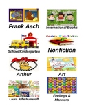 Book Basket Labels with Beautiful Illustrations!
