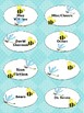 Book Basket tags Bees and Dragonflies