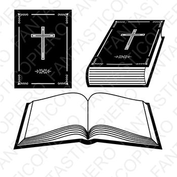 Book Bible SVG files for Silhouette Cameo and Cricut.