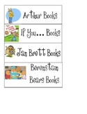 Book Bin Basket Labels for Classroom Library