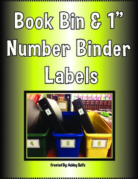 Book Bin & Binder Labels
