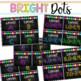 Book Bin & Book Basket Labels Editable: Chalkboard Bright DOTS