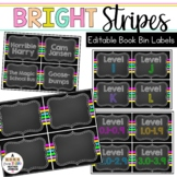Book Bin & Book Basket Labels Editable: Chalkboard Brights