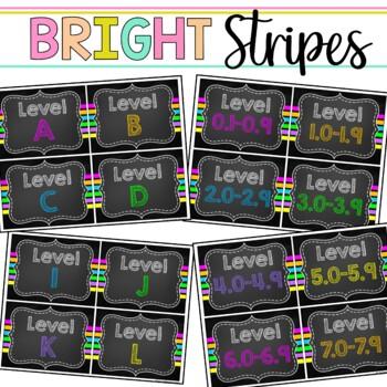 Book Bin & Book Basket Labels Editable: Chalkboard Brights