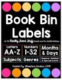 Book Bin / Box Labels - Fit Really Good Stuff Books Bins & Label Holders - Black