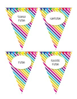Book Bin Bunting Labels