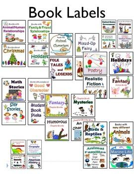 Book Bin Labeling Cards