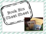 Book Bin Cheat Sheet