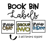 Book Bin Group Labels