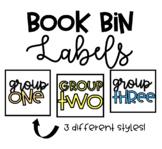 Book Bin Group Labels