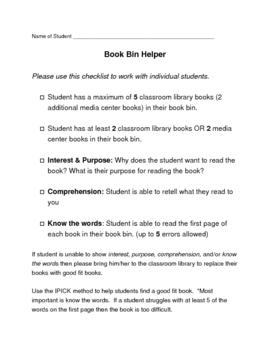 Book Bin Helper