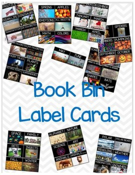 Book Bin Label Cards