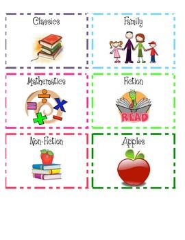 REVISED Book Bin Labels