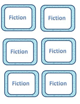 Book Bin Labels