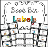 Book Bin Labels Chalkboard Theme