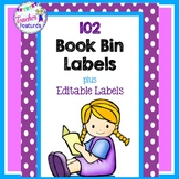 Book Bin Labels | Classroom Library Labels | Purple Polka Dot