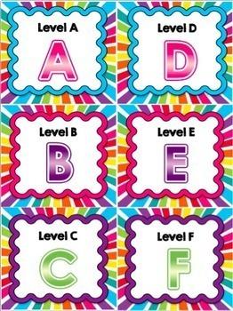 Book Bin Labels (Rainbow Burst)