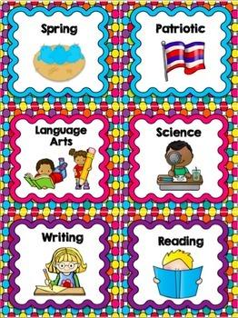 Book Bin Labels | Classroom Library Labels | Rainbow Polka Dots