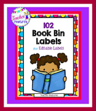 Rainbow Polka Dots Book Bin Labels for Classroom Library EDITABLE