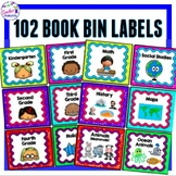 GLITTER THEME Book Bin Labels for Classroom Library EDITABLE