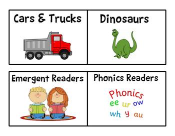 Book Bin Labels