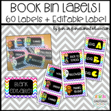 Book Bin Labels! 60+ Labels Black and Neon Chevron Patterns
