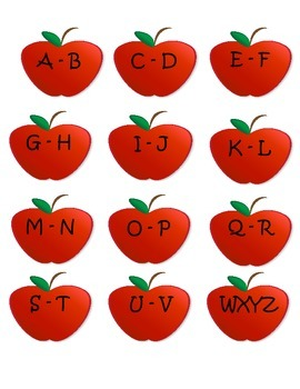 Book Bin Labels - Apples - ABC