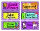Book Bin Labels - Arrows Tri Color