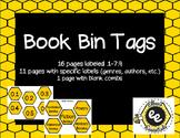 Book Bin Labels - Bee Themed