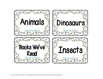 Book Bin Labels - Black & White