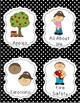 Book Bin Labels {Black and White Polka Dots}