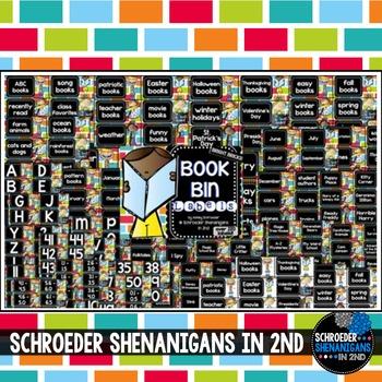 Book Bin Labels Bright Bricks!
